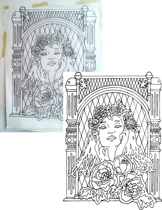 Scanned image compared to the digital recreation.