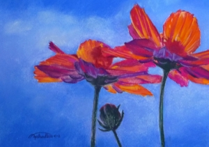 October Sky Pastel Painting